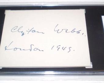 RARE Actor Dancer Singer Clifton Webb Autograph Cut Signature Authentic & Sealed