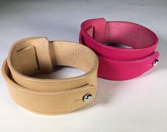 Handmade Small Leather Wrap Bracelets