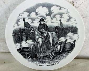 S Collector Cabinet Wall Plate Napoleon Bonaparte Vive l'empereur Maastricht