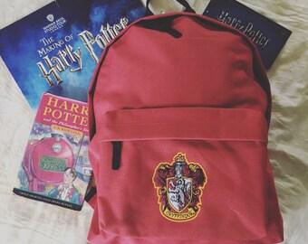Children's Harry Potter House backpack school bag Gryffindor Slytherin Ravenclaw Hufflepuff