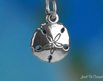 Miniature Sterling Silver Sand Dollar Charm Beach Ocean Tiny Solid 925