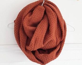 Orange ANNETTE burned #11 / scarf / infinity