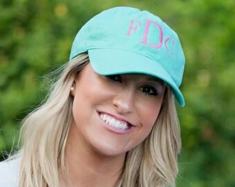 Monogrammed Baseball Hat, Womens hat, monogrammed hat, monogram hat, monogrammed cap, womens baseball cap, bridesmaids hats, bridesmaid gift