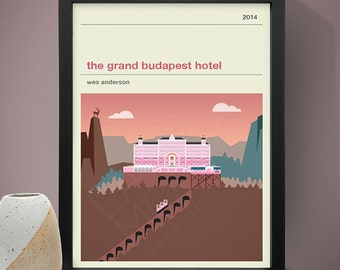 The Grand Budapest Hotel Movie Poster - Movie Poster, Movie Print, Film Poster, Film Poster