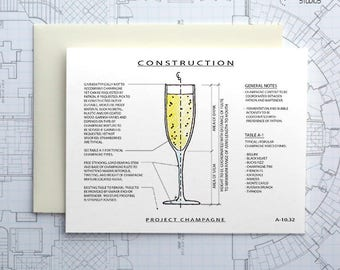 Project Champagne - Instant Download Printable Art - Construction Series