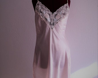 Moving Sale Blush Pink Lace Satin Slip Dress