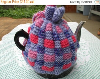 ON SALE Hand Knitted Tea Cozy