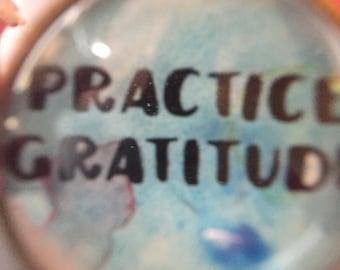 Practice Gratitude Adjustable Mantra Bracelet Boho Style