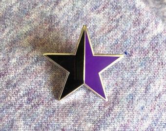 Anarcha-feminism enamel pin / Anarcha-feminist star / Anarchist enamel pin / Feminist enamel pin