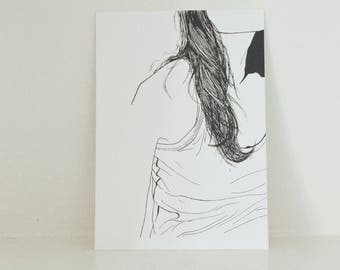 GIRL POSTCARD