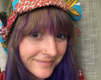 Kantha Quilt Bohemian Trapper Hat