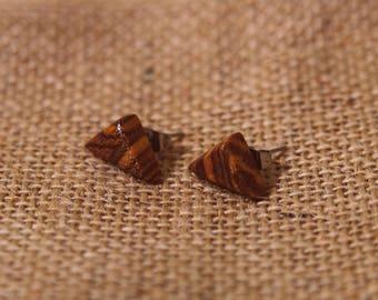 Handmade zebra earrings-Stud earrings-button earrings