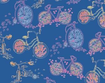 Impresión del arte de bicicletas - bicicletas de ilustración Digital y hojas de otoño
