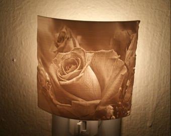 Custom lithophane  rose nightlight gift