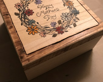 Mother's Day flower keepsake jewelry box gift box