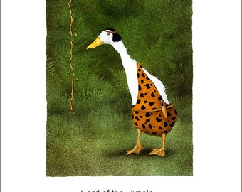 Will Bullas / art print / Lord of the Jungle... / humor / animals / duck