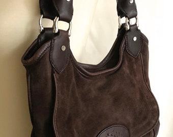 Cole Haan brown suede purse bag