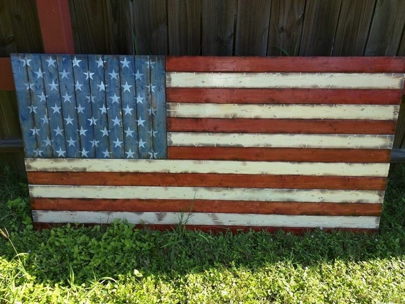 "LARGE American flag (32""x58"")"