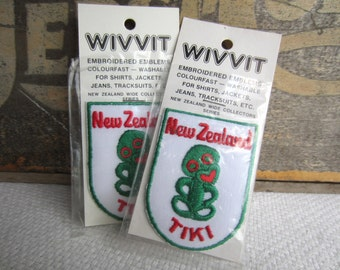 Vintage New Zealand Tiki Iron On Patch Embroidered Emblem