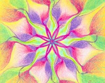 Mandala Card Mellow