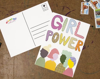 Girl Power 5x7 Postcard