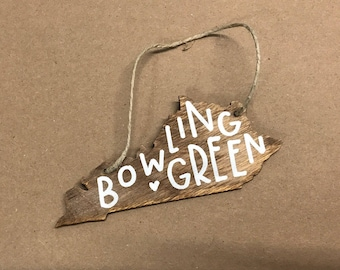 Kentucky Christmas Ornament | Hand Lettered Wood Christmas Ornaments | Louisville / Lexington / Bowling Green / Owensboro / UK