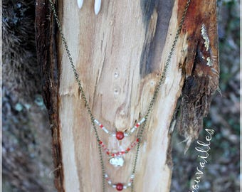 """Set """"of the way..."""" Necklace and earrings"""