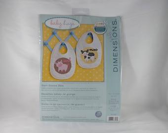 Barn Babies Bibs Stamped Cross Stitch Kit - Dimensions