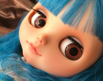 "OOAK SA Hand-painted Handmade 12""Blythe custom eye chips - R16726"