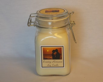 Pear Berry Small Apothecary Jar Natural Soy Candle by Abigail's on Main