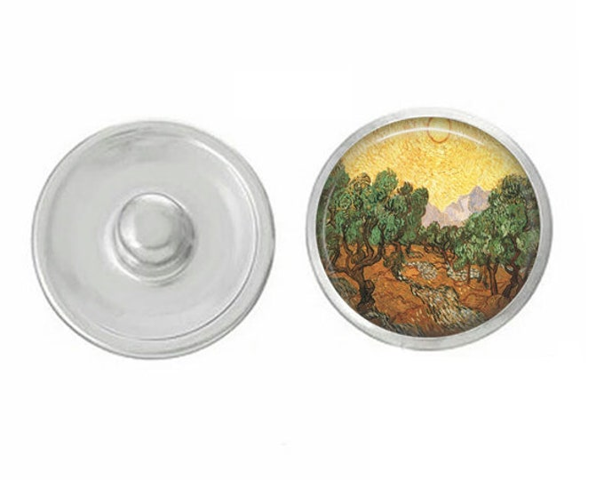 Van Gogh Outdoor Scene - Pair with our Base Pieces - Compatiable with GingerSnaps and Magnolia and Vine Pieces - HandPressed Snaps
