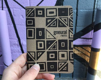 "Limited Edition Notebook, Scout Books, Ruled Stationery, Perfect for Travel - ""gneural Notes"""
