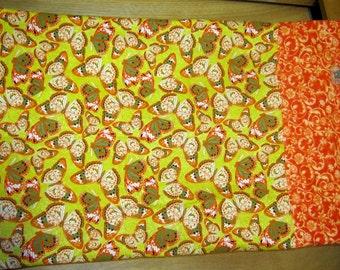 Standard Pillow Case-Shabby Chic Butterflies Yellow Orange Floral Summer Spring Pillowcase