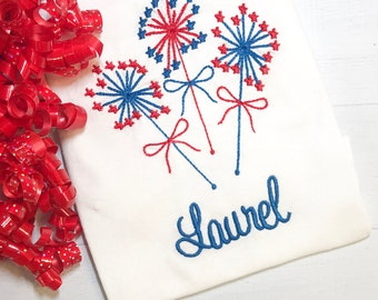 A Sparkler Embroidered Shirt With Name