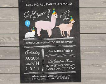 Tribal Animal Birthday Invitations Woodland Birthday Party