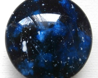 Custom made One of a Kind Furniture and Cabinet Knobs-Midnight Blue Galaxy