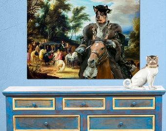 Australian Cattle Dog Art Australian Cattle Dog Print Blue Heeler Print Custom Dog Art Dog Portrait Painting Personalized Dog Gift Vintage