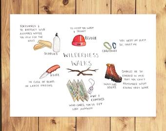 Wilderness Walks A4 Print