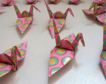 Set of origami cranes: Collection acid