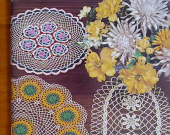 Coats and Clark's priscilla doilies 174, crochet, knit, tatted, beaded, hairpin lace, rick rack - 1239