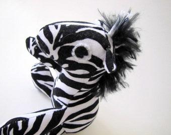 Stuffed Animal: Black and White Striped Baby Zebra
