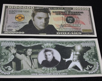 Elvis Presley One Million Dollar Novelty Bill