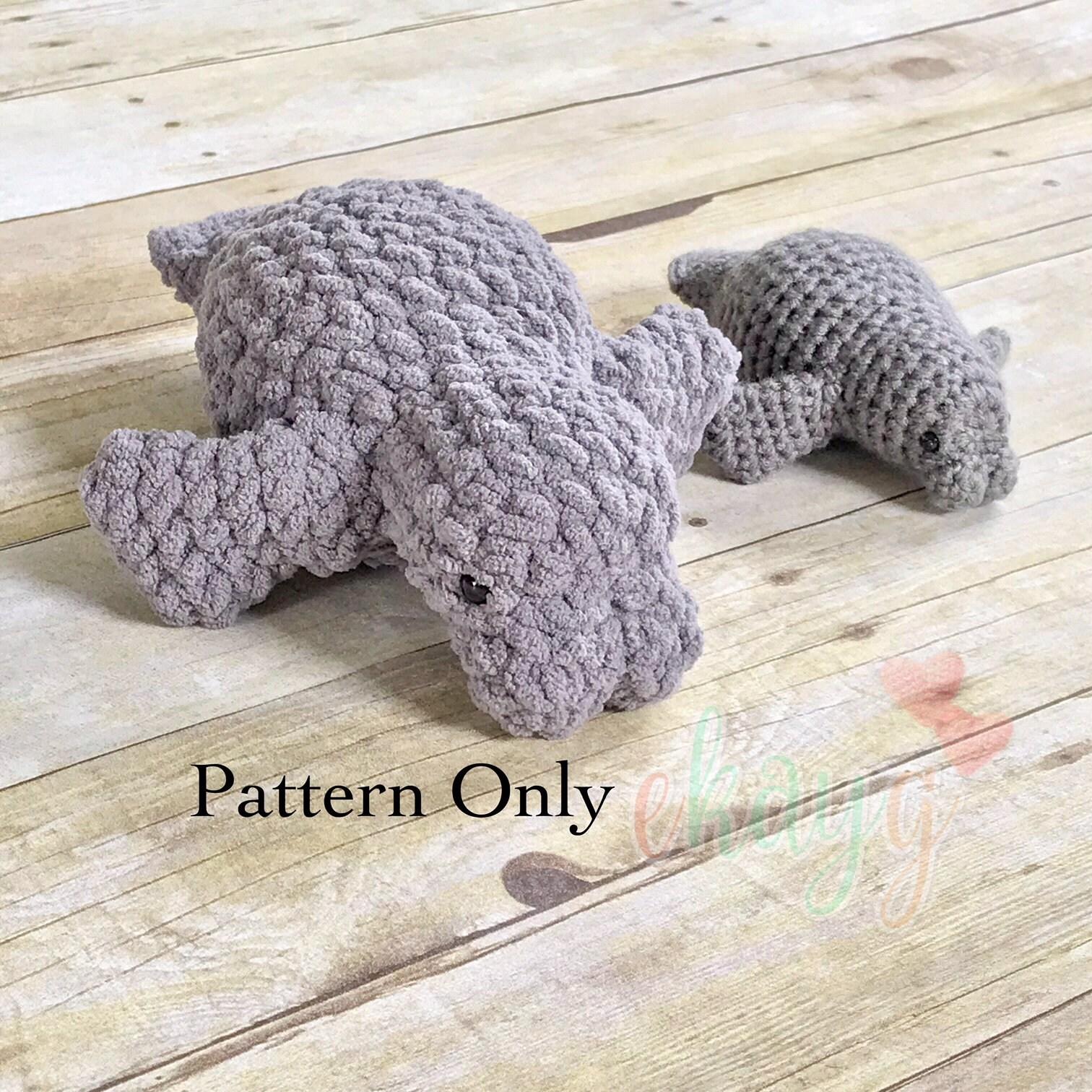 Fantastic Crochet Manatee Pattern Vignette - Sewing Pattern for ...