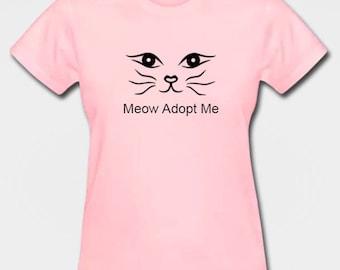 Women's Meow Adopt Me T-shirt