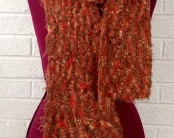 Orange Crochet Scarf