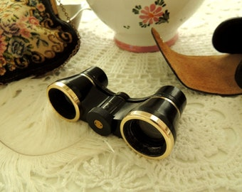 Vintage Theatre Binoculars Opera Lady Glasses, Leather Case, Prop, Property, Requisite, Office Decor Decoration Ornament, Collectibles