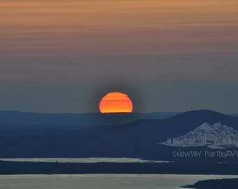 Sunset from Cadillac Mountain Maine