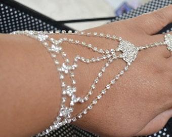 Crystal Wedding Bracelet, Brides bracelet, Bridal jewelry, Bridesmaids bracelet, rhinestone bracelet, gift for her, wedding jewelry