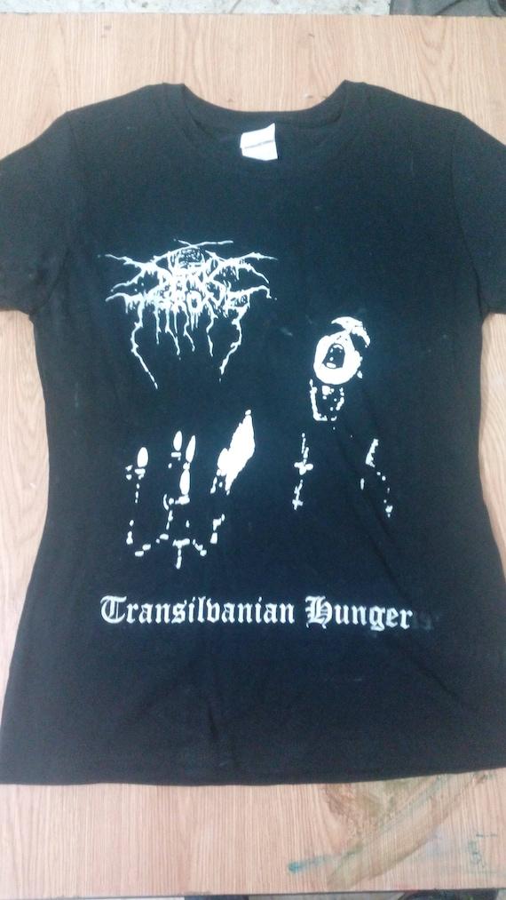 New Dark Throne - Transilvanian Hunger longsleeve T shirt, - Mayhem,Absu,Venom,Bathory,VON