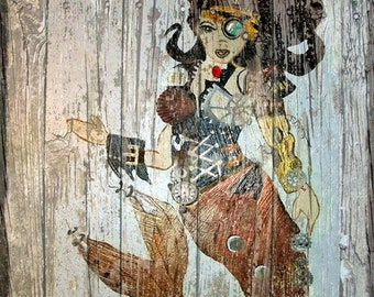 Steampunk Mermaid, Copyright Karen J Williams